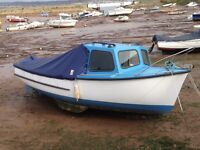 Fishing boat-Plymouth Pilot-18ft Plymouth Pilot with Yanmar inboard diesel engine.