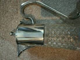 Vintage silver plated claret water jug