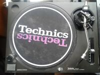 Pair of Technics SL 1210 MK2 Turntables + Flight cases + lids