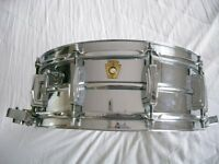 "Ludwig 410 Supersensitive seamless ally snare drum 14 x 5"" - Chicago - Circa 1965"