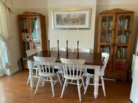Solid Pine Table and 6 chairs - high quality, farmhouse style