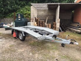 BORO ADAM CAR TRAILER - AS NEW USED ONCE. ALL RELEVANT CERTIFICATES & PAPERWORK INCLUDED.