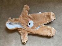 Unisex Teddy bear pray/ snowsuit aged 0-3 months