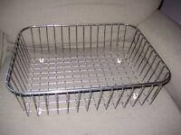 Set of Three Chrome Kitchen Baskets for £5.00