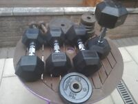 Bodymax dumbbells and weight discs for sale