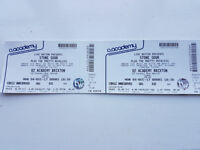 Stone Sour & The Pretty Reckless tickets x2. 4th December 2017