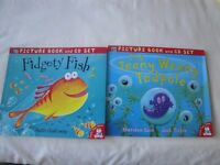 Little Tiger Press Picture Books & CD sets x 2