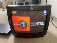 """Retro Vintage Analogue TV 14"""" + Remote"""