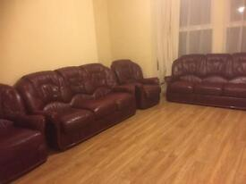 Leather Sofas 2 x 3 seaters & 2 x armchairs