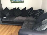Dfs large corner sofa. 8 months old