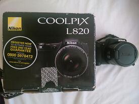 Nikon L820 as new