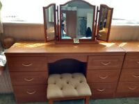Dressing table complete with stool and mirror.