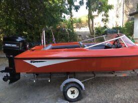 80hp fletcher speed/ski boat £1700 ono
