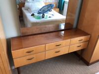 2 Schreiber wardrobes, matching dressing table and headboard with 2 side cabinets. Good condition.