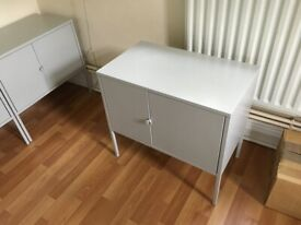 4 x IKEA LIXHULT Steel Cabinets, Storage Units, metal, grey, 60x35 cm, excellent condition