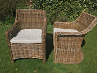 Marks & Spencers Wicker Patio Chairs (Pair)