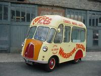 Vintage ice cream van in full working order 1954 Morris J Classic Catering Mobile Rare
