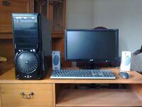 AMD ATHLON X64 X2 CORE TOWER COMPUTER SYSTEM
