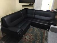 Leather sofa,glass table etc PLEASE READ ADD