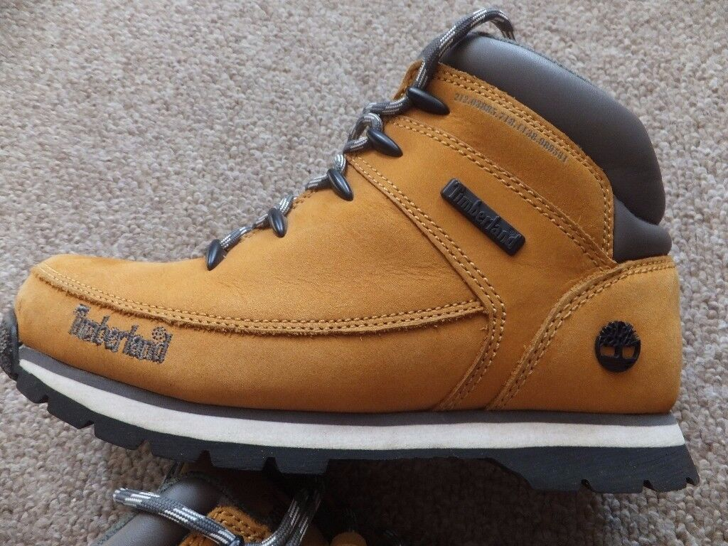 Timberland Brown Leather Boots Size UK 5