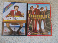 Anchorman 1 and 2 DVD's
