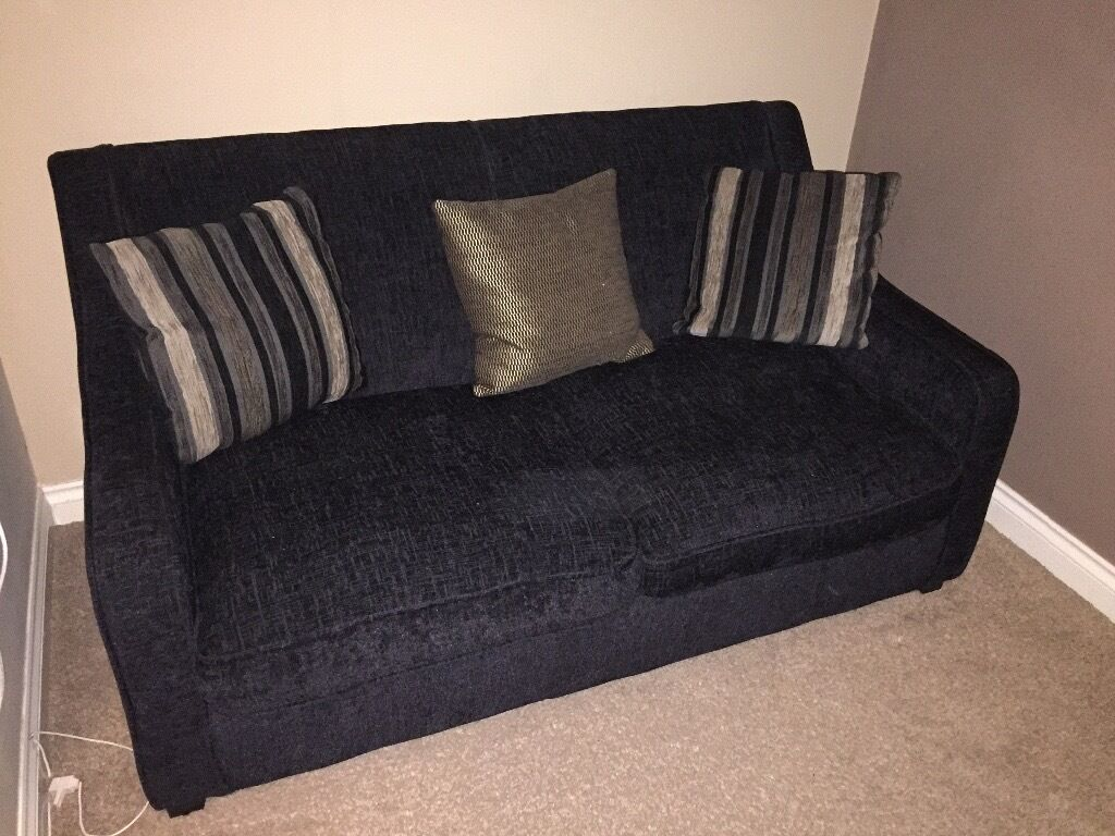 Black Sofa Bed With Black And Gold Sofa Pillows