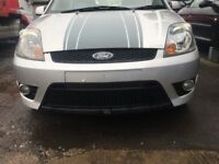 BREAKING - FORD FIESTA MK6 ST ZETEC S - FRONT BUMPER - SILVER - ALL PARTS AVAILABLE