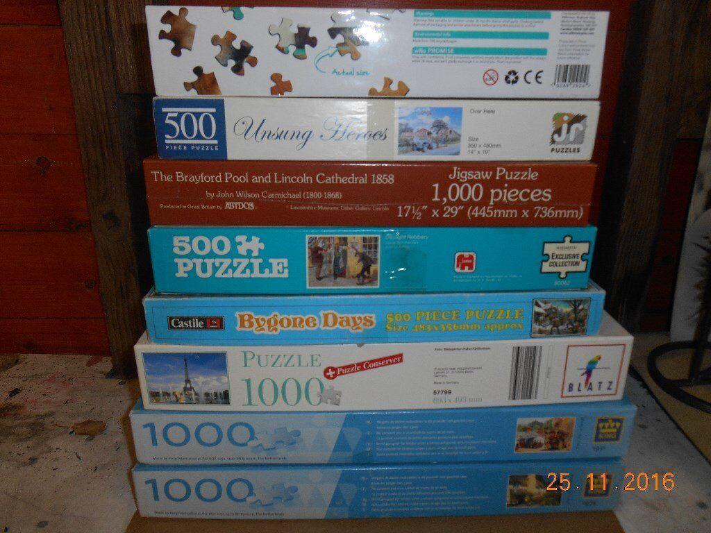 multi Jigsaws 8 boxes