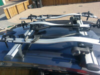 F20/F21 BMW 1 Series Roof Bars and 3x bicycle carriers Whispbar and Thule bike rack