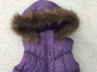 John Lewis Quilted gilet Coat age 10