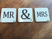 Mr and Mrs Cream Coasters