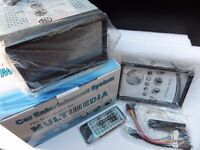"""7"""" Double Din DVD Bluetooth Handsfree Car stereo USB SD iPhone iPod input Remote Control 4x50W"""