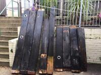 Railway sleepers -beams