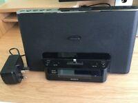 Sony Dream Machine ds15ipn Personal iPod iPhone Docking Station FM Alarm Clock Radio