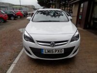 VAUXHALL ASTRA 1.4 EXCITE 5d 98 BHP 1 OWNER FROM NEW, HALF LEATHE (white) 2015