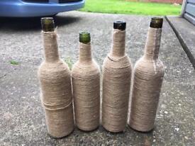 Wine bottle centre pieces