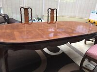 Oval italian Hand made Dynasty Dining Table and Six Chairs (seats 6- 10 people)