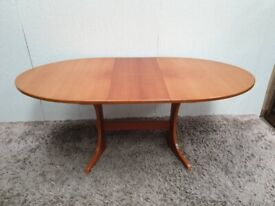 Teak Extending Dining Table Oval Wooden Used Dining Room Furniture