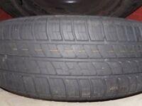 Vauxhall 5 stud 195/60/15 steel wheel with tyre