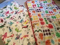 2 colourful, wipeclean excellent condition changing mats