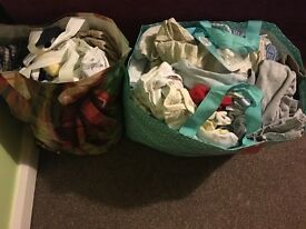 Bundle of baby clothes