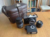 Old Fujica Camera, lenses & bag