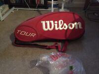 wilson tour 12 racket bag red