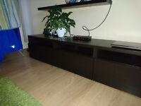 2 BESTA -Ikea TV Bench with Drawers