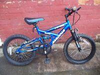 Boys Magna full suspension bike