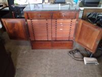 Victorian Mahogany Campaign Pharmacy / Printers Cabinet Drawers