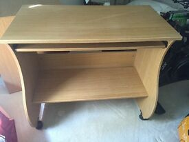 IKEA computer desk with slide out keyboard table. H78cm, W65cm, D45cm. Very good condition.