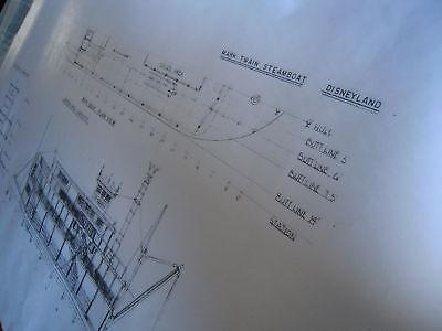 Disneyland Mark Twain Steamboat Blueprint - Main Deck - Design Info+ - 36 x 56
