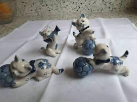 Set of 4 Cat Ornaments