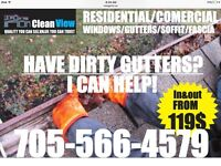 Are dirty eaves-through getting you wet?  Call 705-566-4579